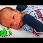 BABY WEEK #2 ❤ Sick Newborn Baby Boy Blocked Tear Duct Taking Care of Baby DisneyCarToys
