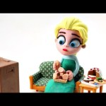 Does Elsa Eat Too Much? Play-Doh Disney Frozen Movie Clips Best Stop-Motion videos