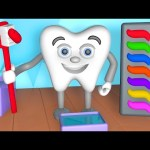 Learn Colors Teeth Brush 3D | Teach Colours Baby Children Kids Video by Animated Surprise Eggs TV