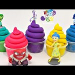 INSIDE OUT Play Doh Ice cream Cups Surprises Disney Toys Frozen My little pony