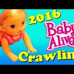 NEW BABY ALIVE CRAWLING Doll 2016 Hasbro Bye Bye Baby & Twinkle When Tinkle Doll NYC Toy Fair