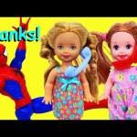 Frozen Kids Sleepover PART 2 Barbie Kelly Dolls Prank Stacie Prank Calls Spiderman Barbie Parody