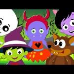 Five Little Monsters | Halloween Nursery Rhymes And Kids Songs | Kids TV