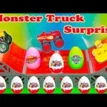 MONSTER TRUCK Surprise Eggs Blaze and Paw Patrol Monster Truck Surprise Eggs Video