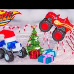 BLAZE AND THE MONSTER MACHINES Nickelodeon Blaze Snow Jumping Contest  Blaze Video Parody