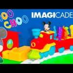 MICKEY MOUSE IMAGICADEMY Disney Mickey Tune Tracks  Train Mickey Mouse Clubhouse Video Toy Unboxing