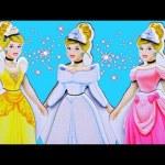 Disney Princess CINDERELLA Dress-Up Magnetic Doll & Palace Pets Puppy Styling Head DisneyCarToys