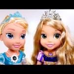 "Singing ""Let it Go"" Snow Glow Frozen Toddler Elsa + Disney Princess Rapunzel – Play Doh Olaf"