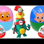 Kinder Surprise STOP MOTION videos *** PLAY DOH Bubble Guppies Nesting Cups
