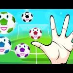 Football Finger Family | Soccer Finger Family | Learn Colors Collection Balls For Kids Toddlers