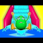 Water Slide 3D For Kids | Surprise Eggs Learn Colors Balls Indoor Playground Family Fun Play Center