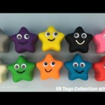 Play and Learn Colours with Play Doh Stars Smiley Face Fun for Kids
