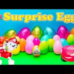 SURPRISE EGGS Nickelodeon Paw Patrol Disney Toy Story + Cars + Nemo Surprise Eggs Video