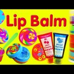 Lip Gloss Makeup Maker ❤ DIY Make Your Own Lip Balm Cosmetics & Stickers Girls Toy Review & Craft