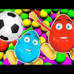 Learn Colors Collection Balls For Kids | 3D Surprise Eggs Color Ball Pit Show | Colours for Toddlers