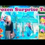 FROZEN Disney Frozen Surprise Tent + Paw Patrol + Elsa + Daniel Tiger Surprise Toys Eggs  Video