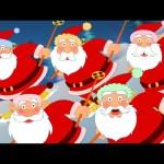 Five Fat Santas | Five Little Santas | Nursery Rhymes