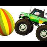 Five Little Babies Driving Monster Truck | Zool Babies Surprise Eggs | Nursery Rhymes Collection