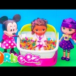 ORBEEZ Luxary Spa Little Charmers + Minnie Mouse + Doc McStuffins Orbeez Video Toy Review