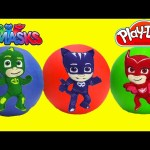 PJ Masks Play Doh Surprise Balls and Surprises LEARN Colors