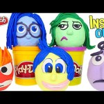 Opening Play Doh Disney Pixar Inside Out Movie Surprise Eggs – Disgust Anger Joy Sadness Fear
