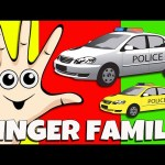 Police Car Finger Family Police Wheels On The Bus Compilation Nursery Rhymes Learn Colors Collection