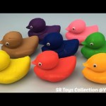 Play Doh Ducks with Dinosaur Molds Fun and Creative for Kids