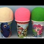 Play Doh Surprise Cups Disney Frozen Paw Patrol Finding Dory The Good Dinosaur Lego Minifigures Toys