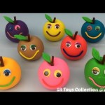Play Doh Apples Smiley Face with Chip and Dale Molds Fun and Creative for Kids