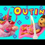 Baby Alive Lucy Outing With Car Seat & Packing Diaper Bag With Toys, Potty & Diapers DisneyCarToys