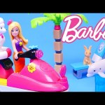 Barbie Pet Beach Boardwalk made of 253 LEGOS Toy Jet Ski Mega Bloks Barbie Vacation House