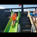 Water Park for kids | Ship with sliders . Funny Video.