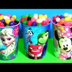 Disney Jelly Bean Surprise Elsa Minnie Finding Dory Squishy POPs Chupa Chups Kids Candy Awesome Toys