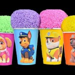 Paw Patrol Clay Foam ice-cream Surprise Eggs Cups Chase rubble Zuma Skie  Bling Bags toys for kids