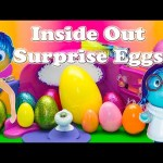 INSIDE OUT Disney Pixar Surprise Eggs a Inside Out Surprise EggsToys  Video