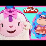 Doc McStuffins Toy Backpack Lambie + Play Doh Hallie Surprise Egg School Supplies by DCTC