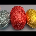 Learn Colours  with 3 HUGE JUMBO GIANT Mystery Surprise Eggs! Kinder Surprise!