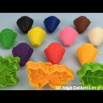 Learning Colours with Play Doh and Leaf Shaped Cookie Cutters Peppa Pig Rolling Pin Fun & Creative