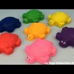 Fun Play and Learn Colours with Play Doh Turtles for Kids