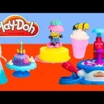 PLAY DOH Disney Frozen Elsa Play Doh Birthday with Peppa Pig Paw Patrol Skye and Minions a Play Doh