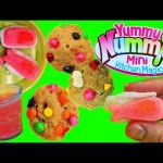YUMMY NUMMIES Candy Maker ❤ Sushi Surprise Maker & Cookie Creations Chocolate Chip Cookies Toys