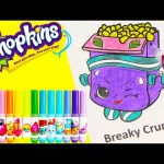 Shopkins Breaky Crunch Coloring Page with Happy Places and Surprises