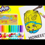 Shopkins Honeeey Coloring Page Lisa Frank Happy Places and More