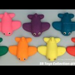 Fun Play and Learn Colours with Glitter Play Dough Airplanes with Molds