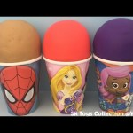 Play Doh Surprise Eggs Zootopia Disney Frozen Teenage Mutant Ninja Turtles Batman Shopkins Toys