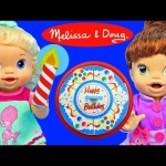 Baby Alive Dolls Birthday Cake MELISSA & DOUG Wooden Cut & Slice Toy + Learning Math & Counting