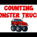 Monster Trucks Numbers | Learn numbers from 1 to 4