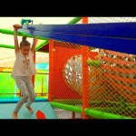 Indoor playground for kids. Family fun video 2016.