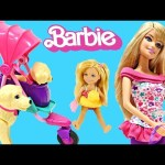 Barbies Puppy Stroller Taffy Really Walks! Barbie Pets ZELFS FURBY Toy Review DCTC