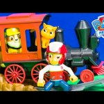 PAW PATROL Nickelodeon Paw Patrol Rubble Train Ride at Magic Kingdom Toys Video Parody